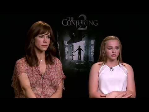 THE CONJURING 2|Frances O'Connor & Madison Wolfe Exclusive Interview|HD