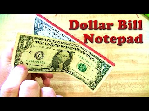 How To Make Money Pads Fast And Easy - Dollar Bill Note Pad DIY Gifts