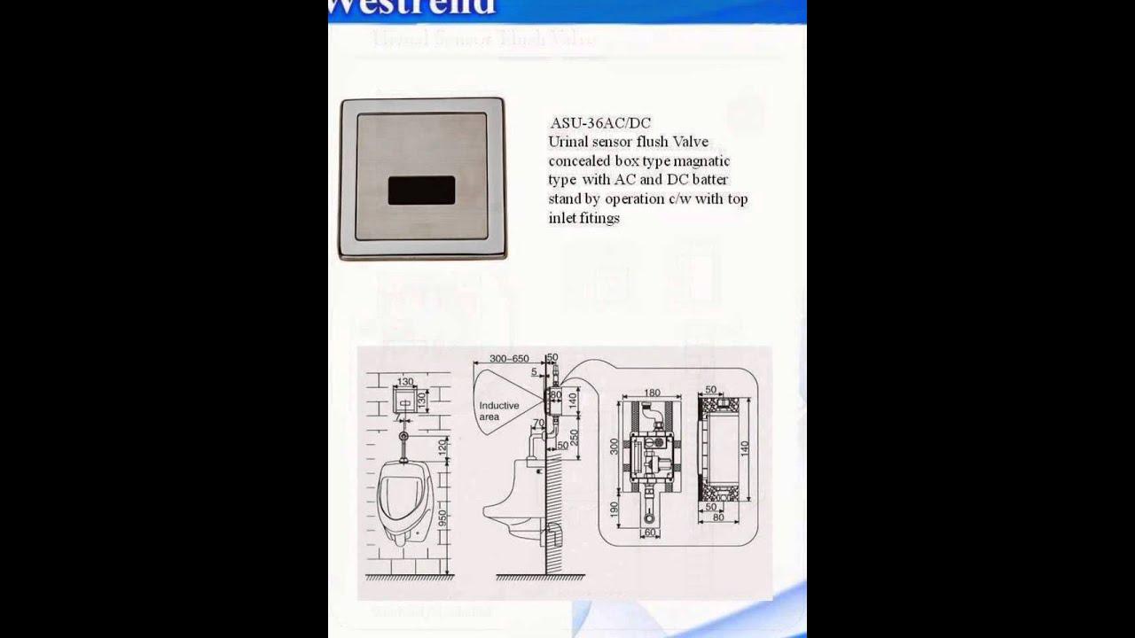 Wetsrend Urinal Sensor Flusher Youtube