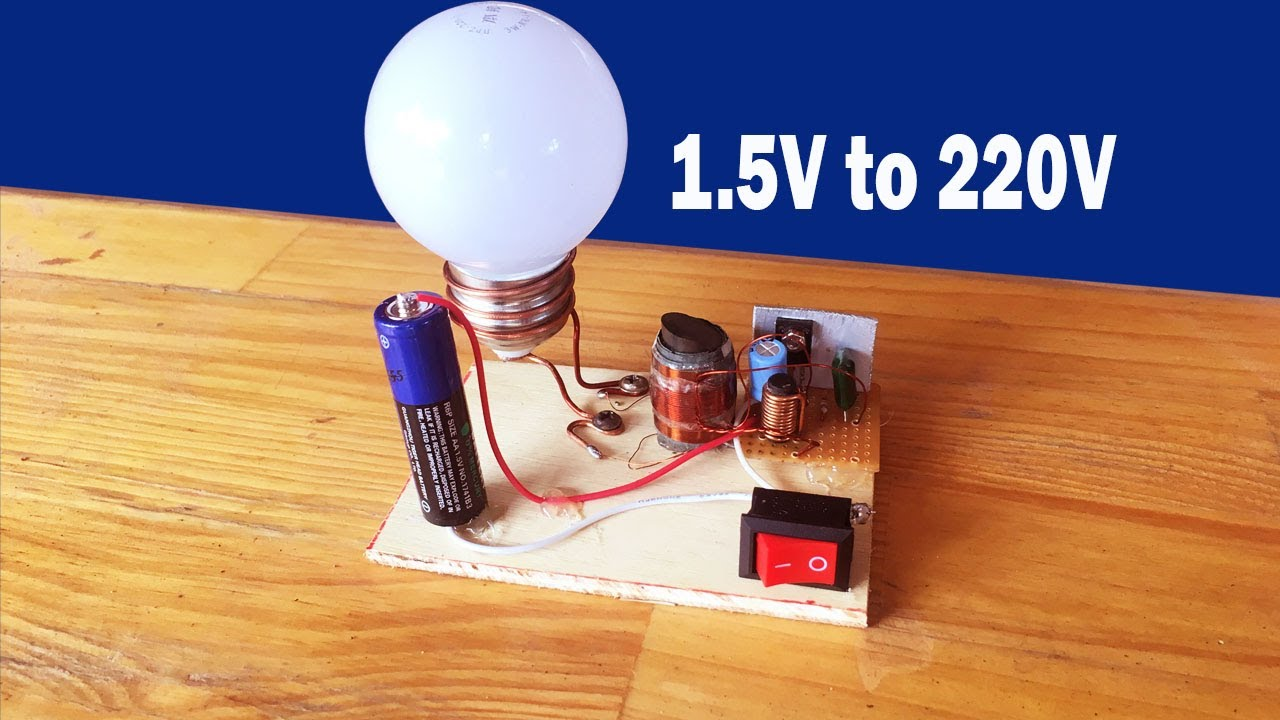 How to make easy inverter 15V to 220 Circuit at home