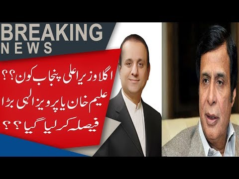 Who will be the next Chief Minister Punjab, Aleem Khan or Ch. Pervaiz Elahi?