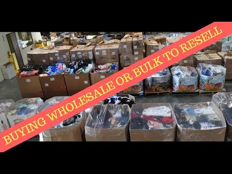 Buying Wholesale, Bulk or Liquidation to sell on Ebay & Amaz