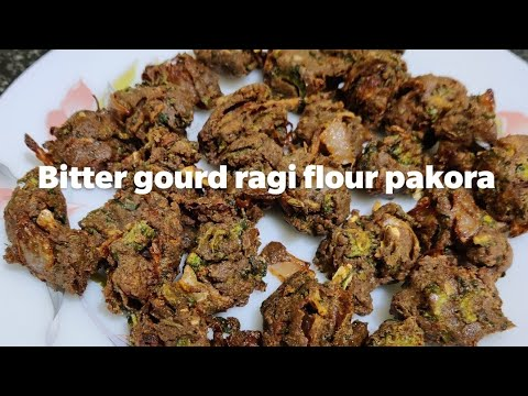 Diabetes friendly Bitter gourd ragi flour crispy and healthy pakora!