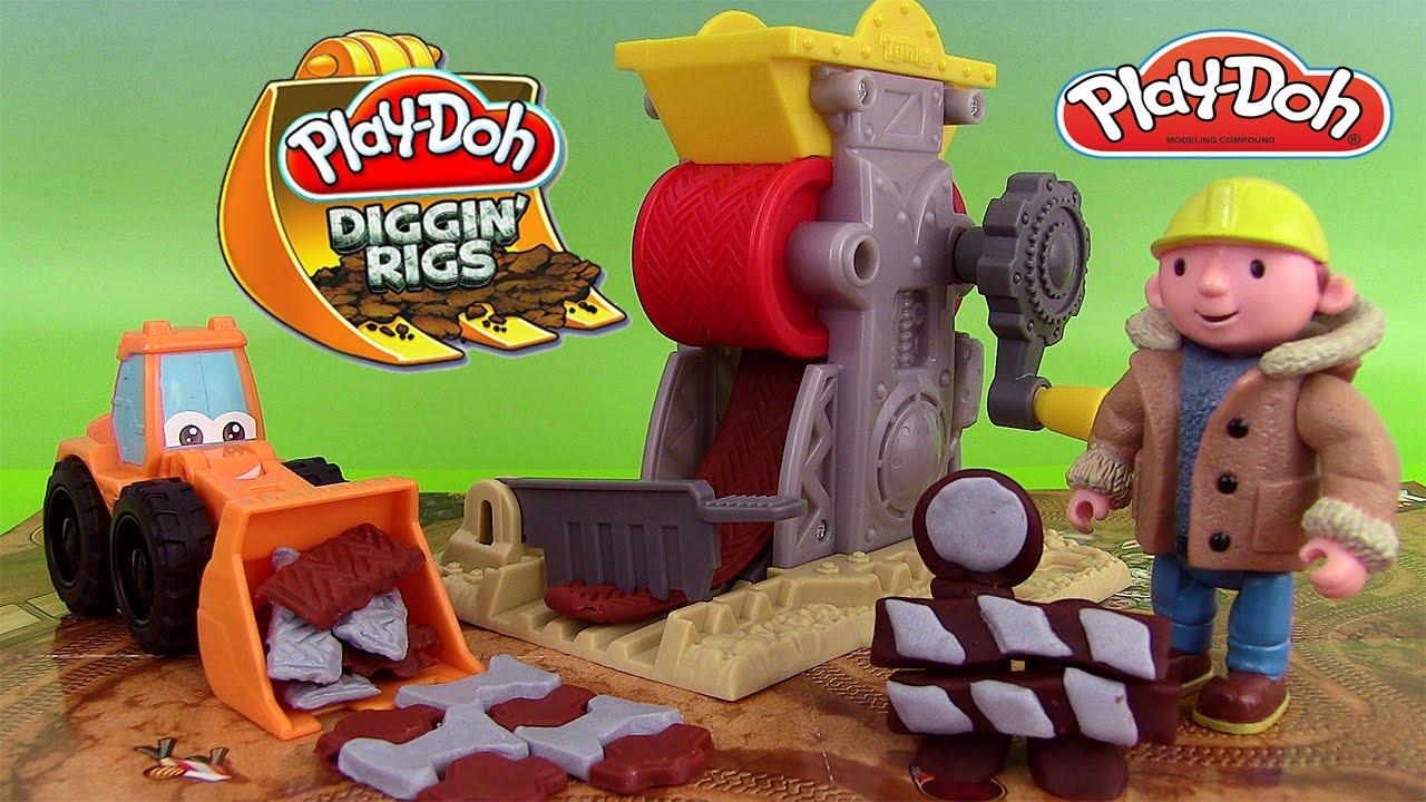 Play Doh Brick Mill Pâte à modeler Camion Outils de Chantier Modèle Bulldozer Diggin' Rigs - YouTube