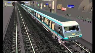 MSTS Metro Parisien - Ligne 1 - Pont de Neuilly - Château de Vincennes