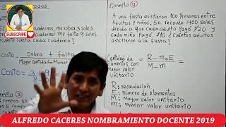 EXAMEN DE NOMBRAMIENTO MÉTODOS PRÁCTICOS 2019 ALFREDO CACERES PARTE 2