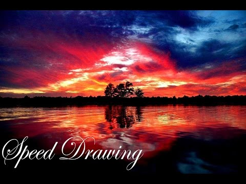 Landscape in water colors – Speed Drawing