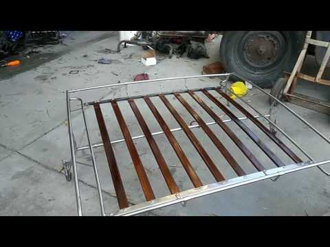 VW Bug cheap stainless roof rack after assembly
