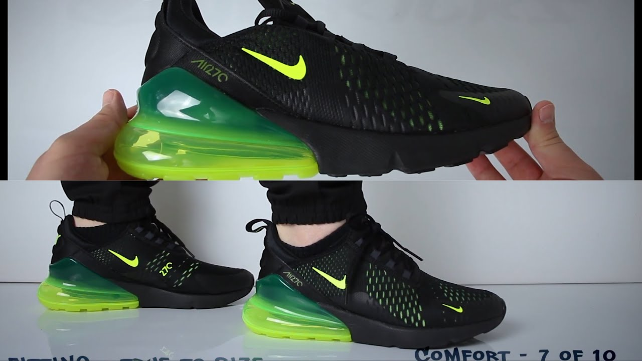 Nike Air Max 270 Black Volt (Review) UNBOXING & ON FEET