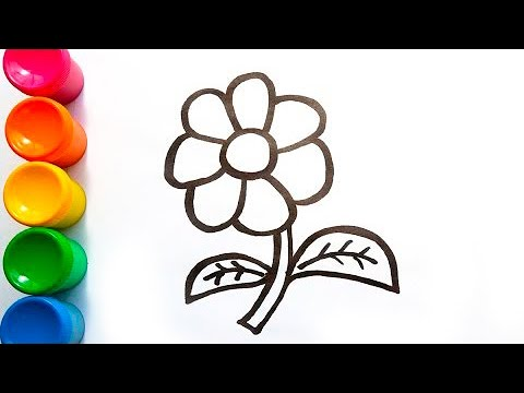 Glitter Toy Flower coloring and drawing for Kids