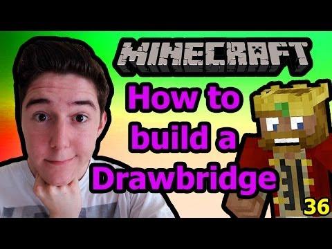 How To Build A Drawbridge - Minecraft [36]