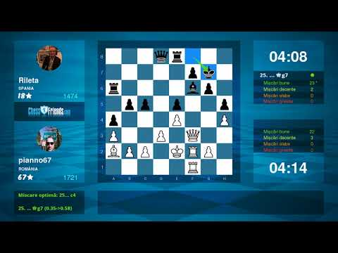 Chess Game Analysis: pianno67 - Rileta : 1-0 (By ChessFriends.com) - Duur: 7:02.