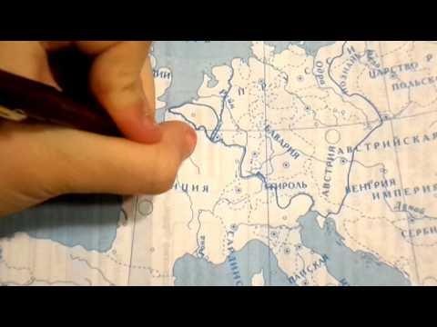 Как заполняется контурная карта