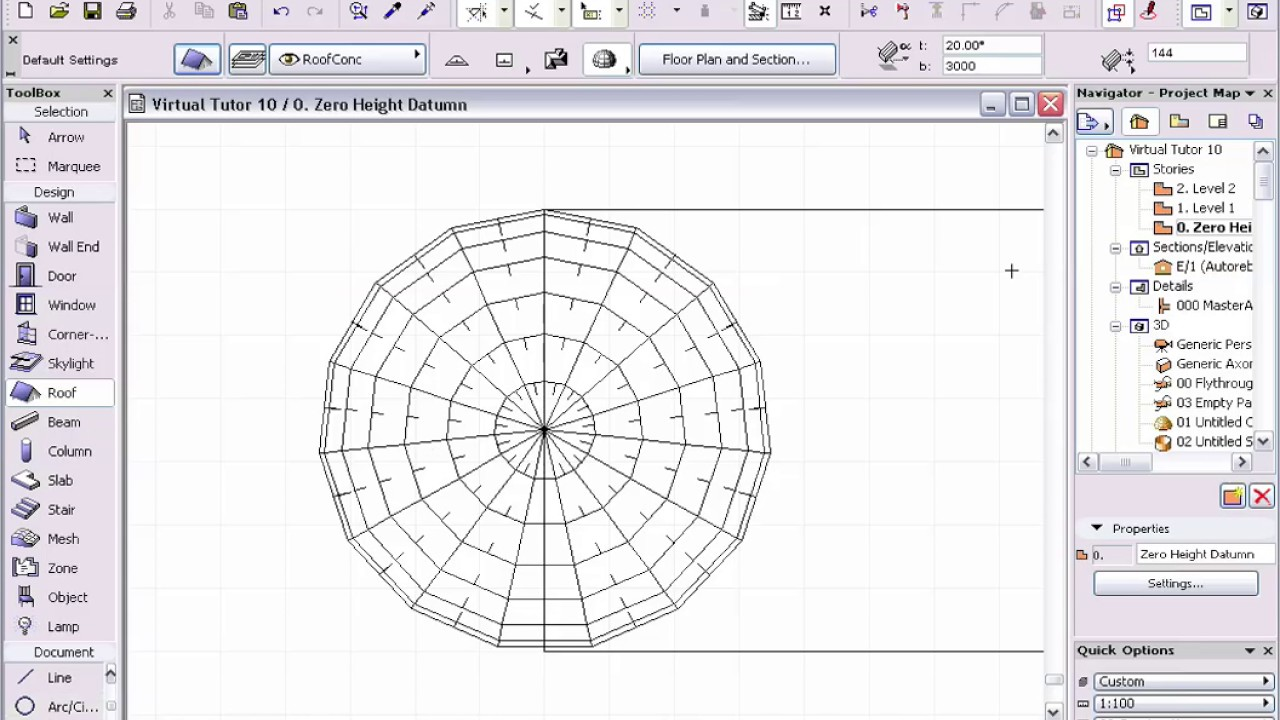 Tutorial Archicad Roof Dome Youtube
