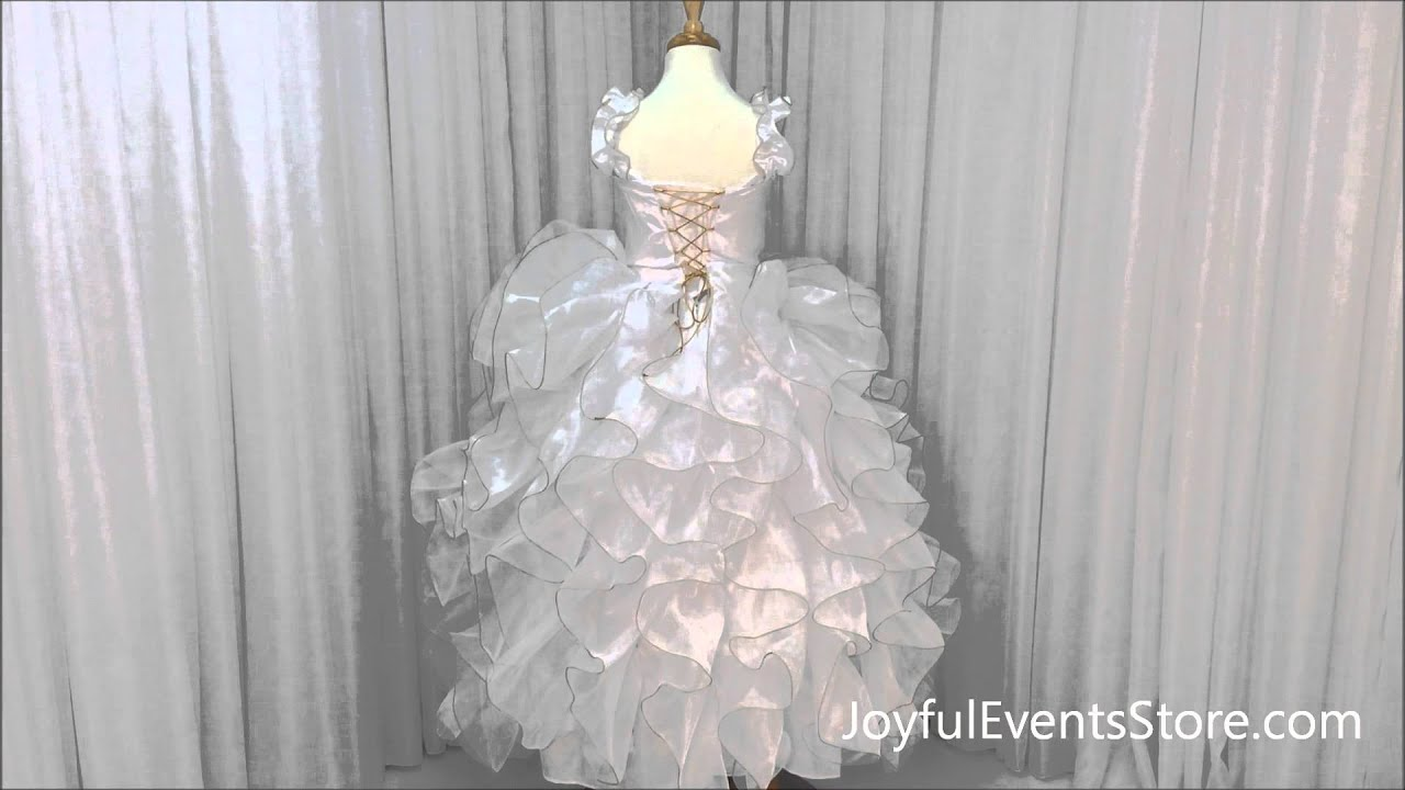 eef789715bf Virgen de Guadalupe Flower Girl Dress  FGD008 · Joyful Events Store