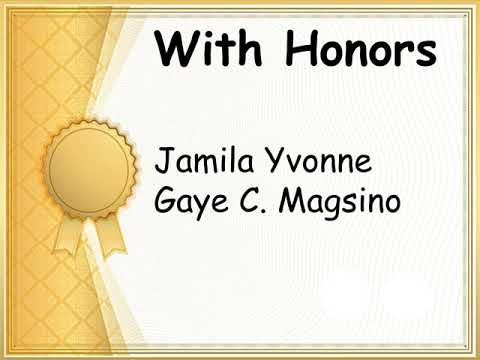Altura Elementary School First Virtual Recognition