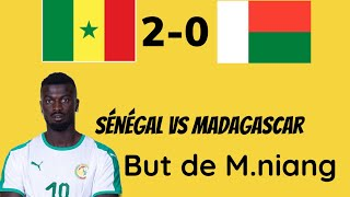 Sénégal vs Madagascar 2e but de Mbaye Niang...