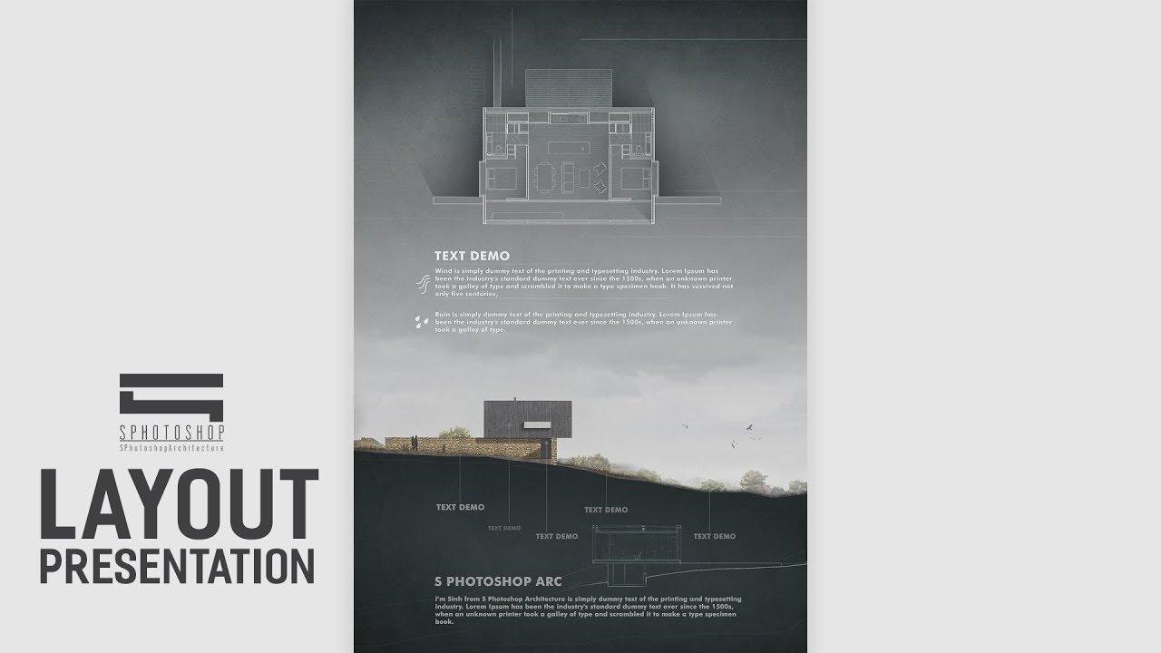 Architecture Layout Presentation - Photoshop Architecture