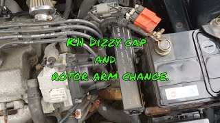 How to change Distributor cap and rotor arm on a K11 Nissan Micra