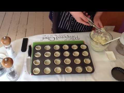 Mini Courgette Tartlets Video Part 1