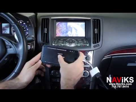 2013 Infiniti G37 NAViKS HDMI Video Interface Add: Rear & Front View Cameras, Smartphone Mirroring