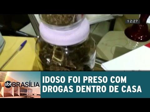Idoso foi preso com drogas dentro de casa | SBT Brasília 28/08/2018