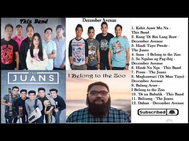 December Avenue Non-Stop Playlist