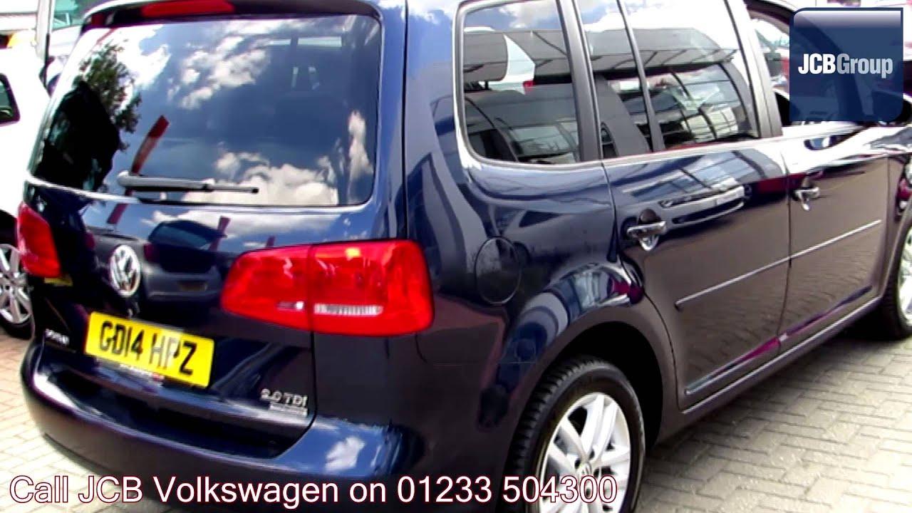 2014 Volkswagen Touran Bluemotion Se 2l Night Blue
