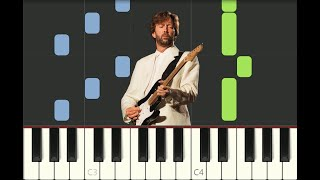 piano tutorial TEARS IN HEAVEN Eric Clapton, Rush, 1991, with free sheet music
