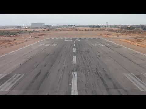 An124 100M Zaragoza (approach, landing, taxi to parking)