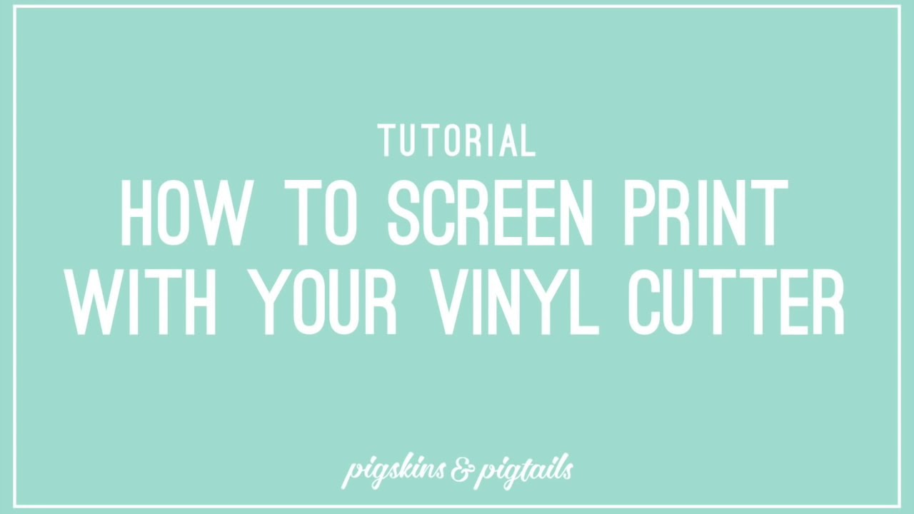 b2dfbd89a How to Screen Print Using Craft Vinyl - Pigskins & Pigtails