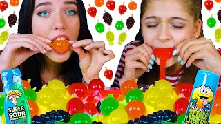 ASMR Tiktok Jelly Fruit Candy Challenge with MOST POPULAR SOUR CANDY