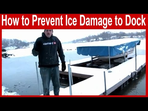 How To Prevent Ice Damage To A Dock, Boat Or Lift