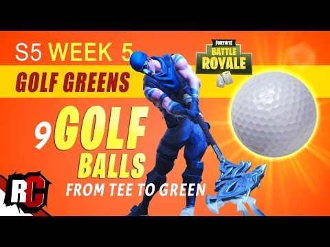 Fortnite   Season 5 Week 5 Golf Challenge (How to Hit a Golf Ball from Tee to Green)