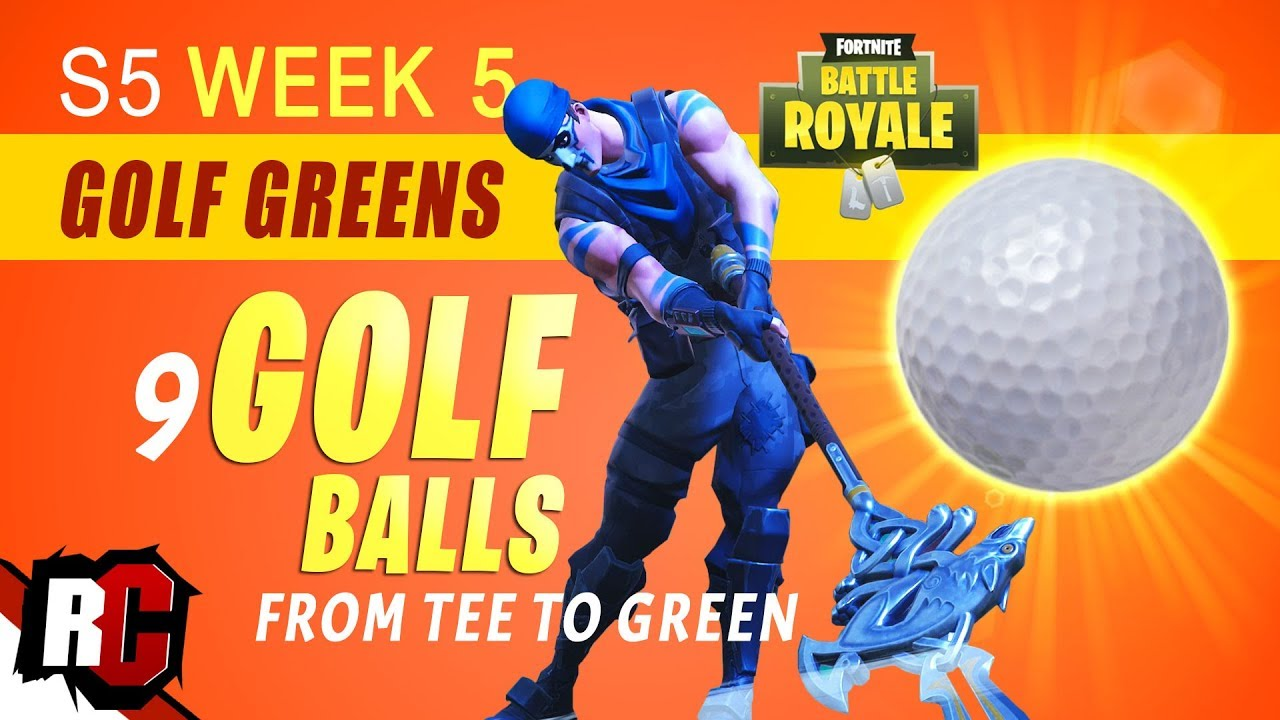 Fortnite | Season 5 Week 5 Golf Challenge (How to Hit a ...