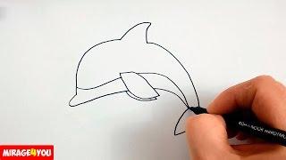 Как Нарисовать Дельфина поэтапно, просто и быстро(Как рисовать дельфина. В этом видео я показываю как нарисовать дельфина. Я рисую дельфина поэтапно, шаг..., 2016-08-16T09:44:51.000Z)