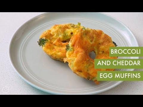 Broccoli and Cheddar Egg Muffins I Spiralizer Recipe