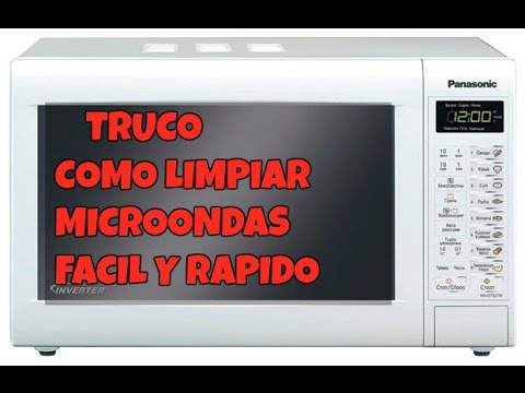 Como limpiar microondas r pido y f cil youtube - Como limpiar rapido ...
