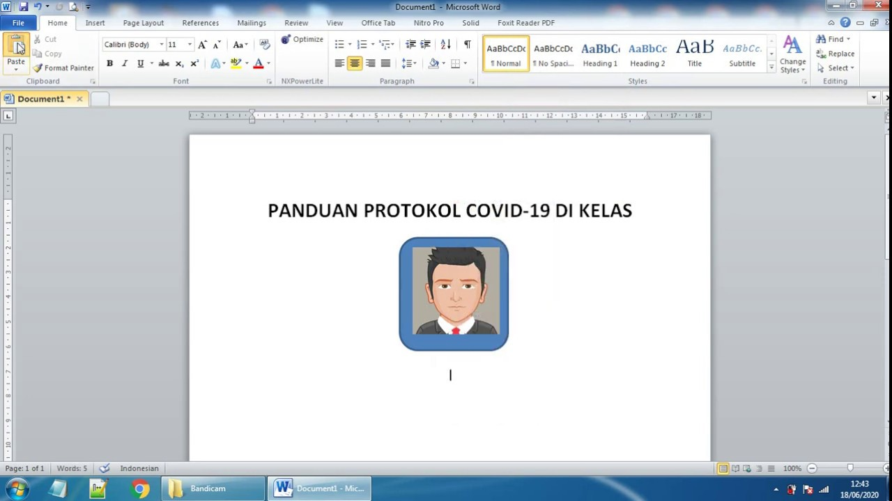 Cara Memasukkan Gambar di Microsoft Word - YouTube