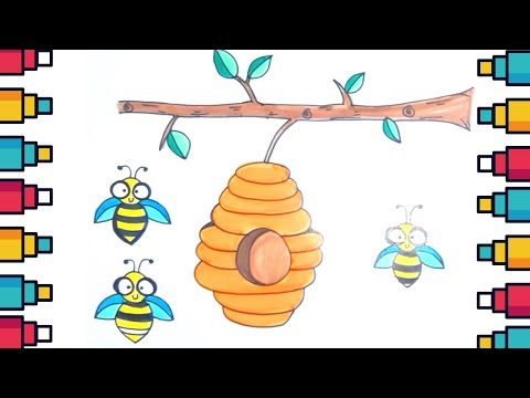 how-to-draw-a-honey-beehive-for-kids-step-by-step-and-slowly
