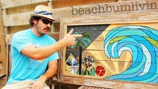Recycled Pallet Wood Art:  Using Pallet Wood And Random Items To Make Wall Art