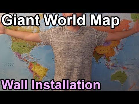 Big World Map - Wall Installation