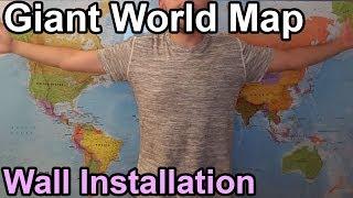 Big World Map   Wall Installation