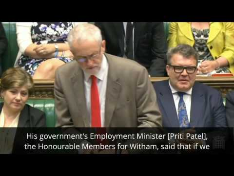 Jeremy Corbyn commends Unite the Union during #PMQs #sportsdirectshame