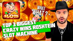 TOP 3 BIGGEST CRAZY WINS IN CASINO | ROSHTEIN | 88 FORTUNES SLOT MACHINE
