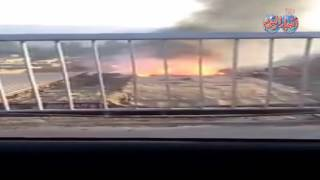 أخبار اليوم | حريق هائل فى سوق الجمعة بالسيدة عائشة