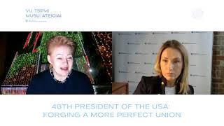 Adaptyviosios lyderystės centro diskusija. 46-asis JAV prezidentas: tobulesnės sąjungos link