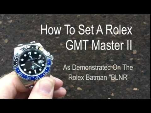 How To Set Rolex GMT Master II Watch | Setting A GMT