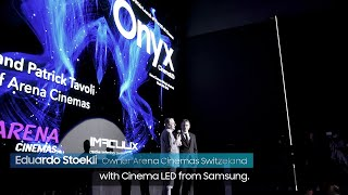Samsung Onyx: Cinema LED Signage Showcase event at Arena cinemas Zurich