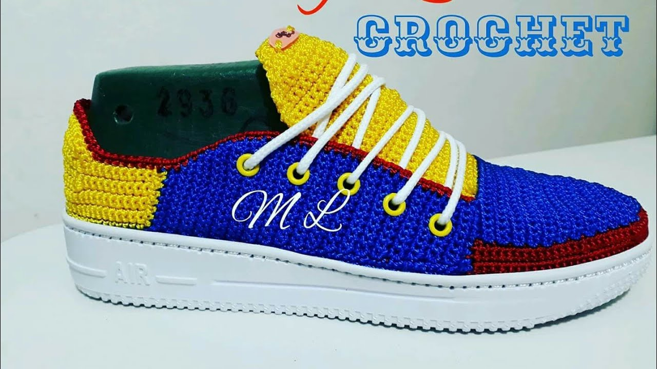 Zapato Tejido En Crochet Modelo Colombianito Youtube